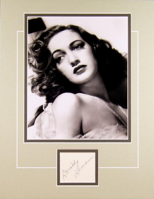 Dorothy Lamour autograph