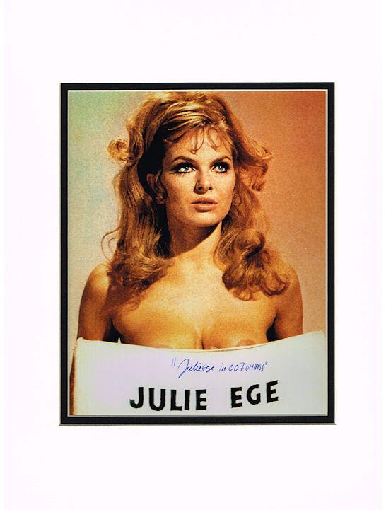 Julie Ege Autograph Signed Photo James Bond