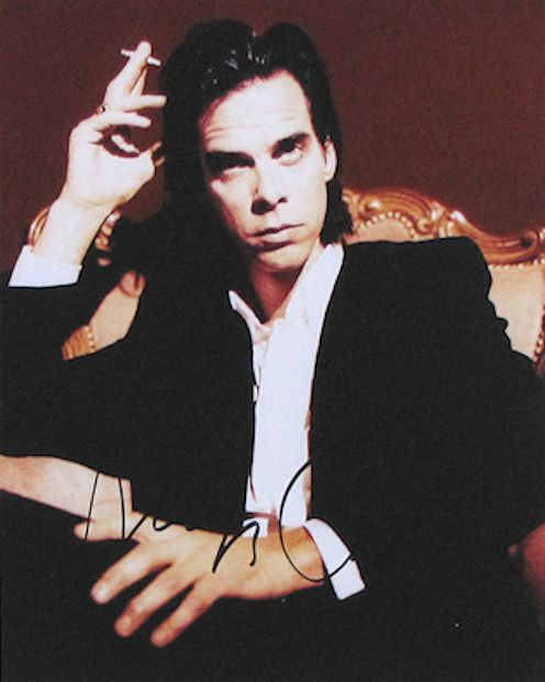 Nick Cave Autograph Photo Signed