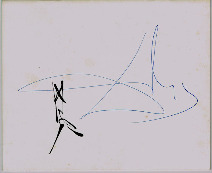 Salvador Dali Autograph Signed Exhibition Catalogue
