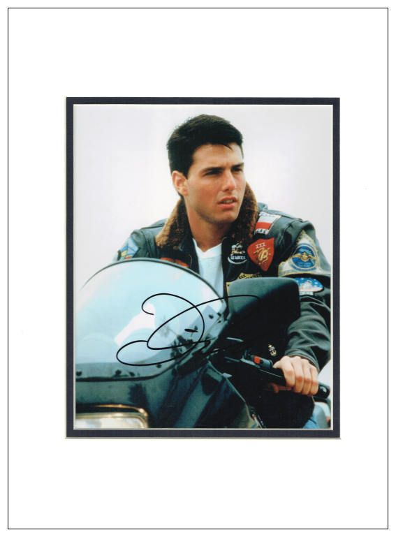 tom cruise top gun. Tom Cruise Autograph Signed