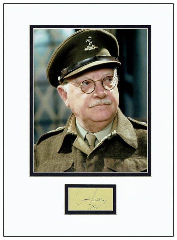 Arthur Lowe Autograph Signed Display Dad S Army