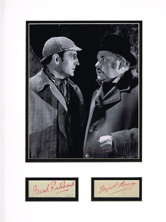 basil rathbone  u0026 nigel bruce autograph display