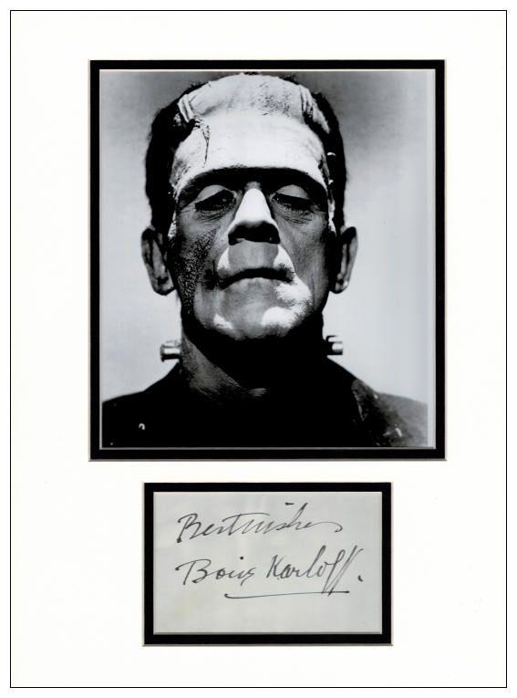 Boris Karloff Autograph Signed Frankenstein