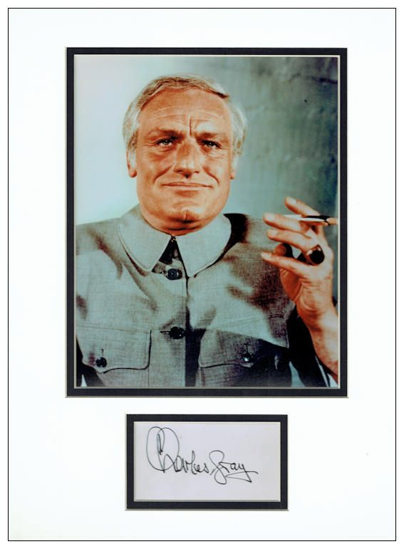 Charles gray autograph signed blofeld james bond publicscrutiny Image collections