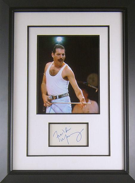 freddie mercury autograph signed display