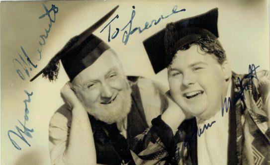 Graham Moffatt and Moore Marriott Autograph Signed Photo ...