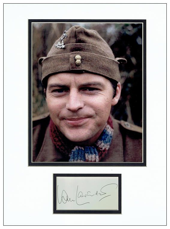 Ian Lavender Autograph Signed Display Dad S Army