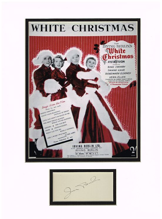 Who Wrote White Christmas.Irving Berlin Autograph Signed Display White Christmas