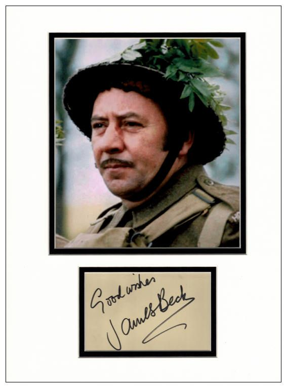 James Beck Autograph Signed Dad S Army