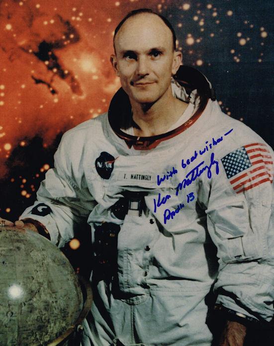 Ken Mattingly Autograph Signed Photo