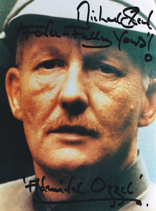 Michael Sheard Admiral Ozzel STAR WARS Autograph Signed autographed paper photo Star Wars the Empire Strikes Back