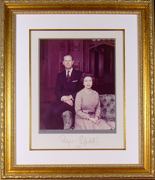 Queen Elizabeth Ii Prince Philip Autograph Signed Photo