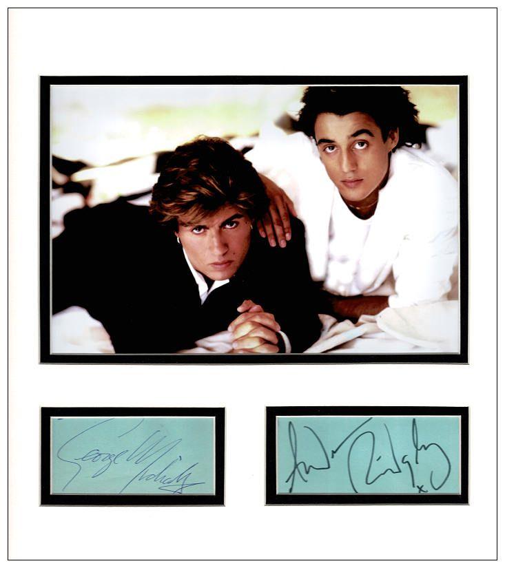 Music Photo Signed Tribute Black White George Michael 18 Singer Poster Wham